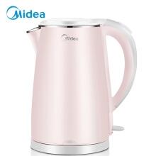万博体育manbet网页(Midea)电水壶 304不锈钢电热水壶 1.7L容量 双层防烫烧水壶WHJ1705b